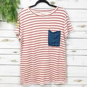My Story flag patriotic t-shirt size M